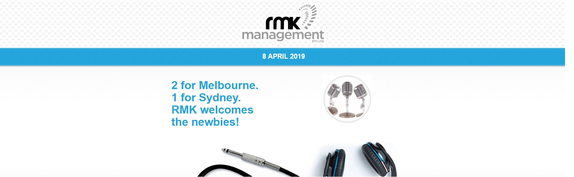 2 for Melbourne. 1 for Sydney. RMK welcomes the newbies!
